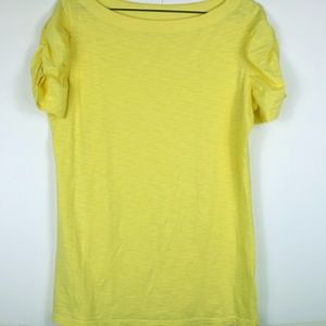Lilly Pulitzer Yellow Luna Slub Top -Large